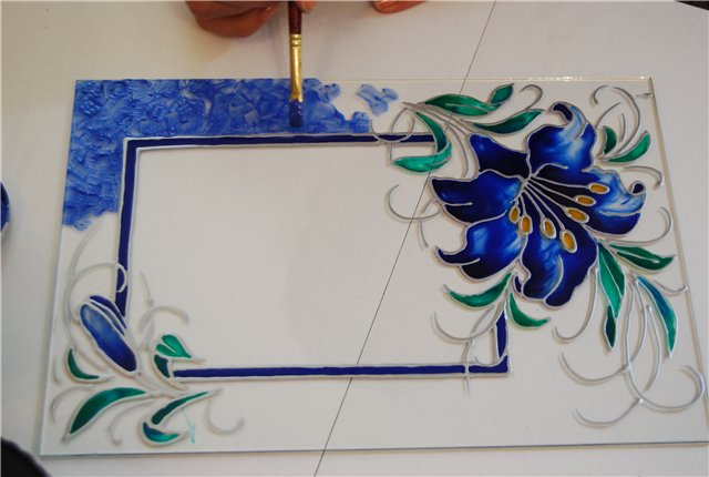 Краски для рисования на стекле своими руками